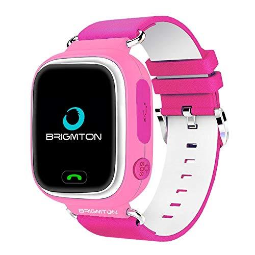 Brigmton BWATCH-Kids SmartWatch GPS, Rosa