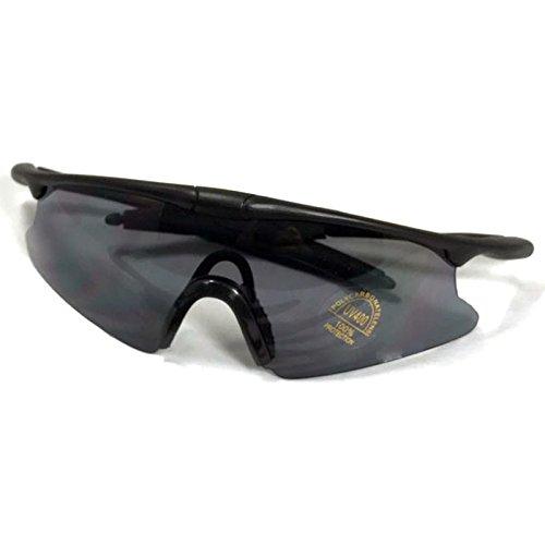 弾性レンズ 耐衝撃 軽量 UV400カット シューティング サングラス ミリタリー SWAT グラス ゴーグル 眼鏡 グレー