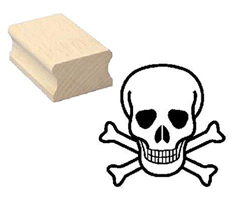 Stempel TOTENKOPF Skull - Motivstempel aus Buchenholz