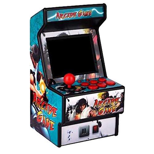 Mini Recreativa Arcade / 156 Juegos / 16 bits STRIR Mini consola de juegos portátil de Arcade Classic Retro New Street Fighter Home Consola de juegos Arcade Consola d (D)