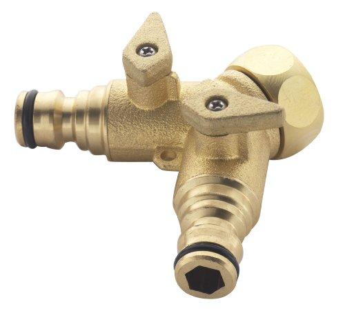 """Spear & Jackson BWF14 - Connettore per rubinetto a 2 vie in ottone da 3/4"""""""