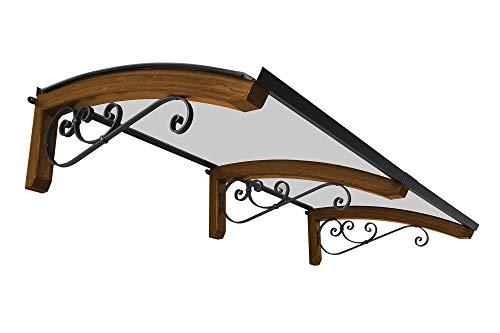 BELLHOUSE COPERTURE Pensilina in legno Mod. Legno Riccio MIELATO - P 100cm e L 250 cm-BRONZATO