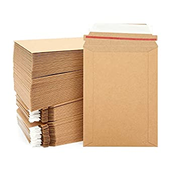 Rigid Mailing Envelopes Kraft Paper Stay Flat Mailers  6x8 In 100 Pack
