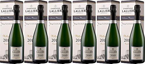 6x Millésime Grand Cru - in Geschenkkartonage - 2010 - Champagne Lallier, Champagne - Weißwein