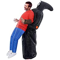 Grim Reaper Catch Me Inflatable Costume for Adults with Blower Fans