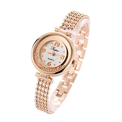 YLBHD Relojes de Mujer Pulsera de aleación Reloj de Mujer para niña...
