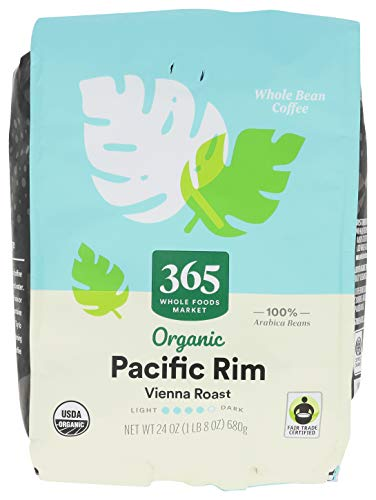 365 By WFM, Coffee Pacific Rim Vienna Roast Organic Whole Bean, 24 Ounce