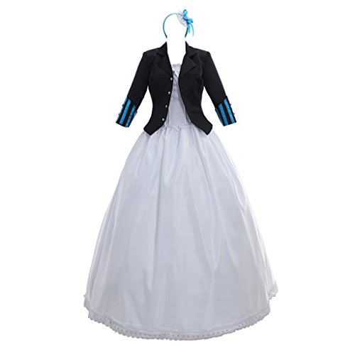 CosplayDiy Women's Dress for Black Bulter Book of The Atlantic Elizabeth Midford Cosplay M