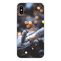 に適用するiPhone X XR XS 11Pro MAX SE 6S 7 8 Plusに最適超薄型およびソフトTPU携帯電話ケースケース、3D 3次元パターン、冬の小雪クリスマス、360度保護