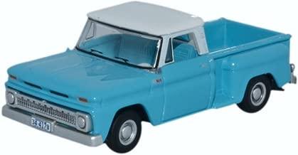 Oxford Diecast 87CP65001 1965 Chevrolet Stepside Pick Up light blue/white 1:87 HO Scale