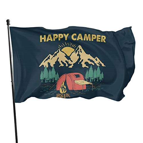 Happy Camper Camping 3x5 Feet Banner Flag