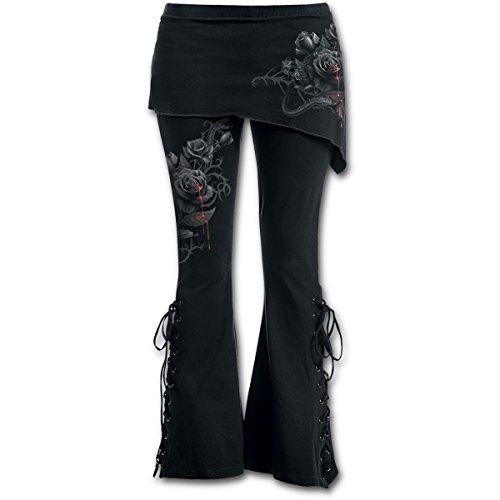 Spiral Direct Damen Fatal Attraction-2in1 Boot-Cut with Micro Slant Skirt Legging, Schwarz (Black 001), 50 (Herstellergröße: XX-Large)