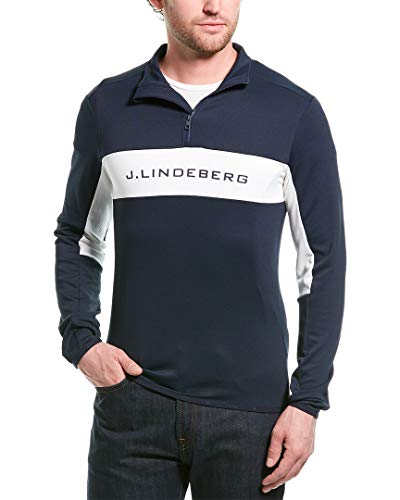 J.Lindeberg M Kimball Striped Jacket Blau-Weiß, Herren Langarm-Shirt, Größe XL - Farbe JL Navy