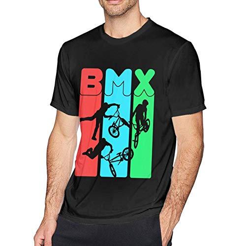 Camiseta Hombre BMX Bicicleta Camiseta de Manga Corta para Hombre Camiseta Deportiva Verano