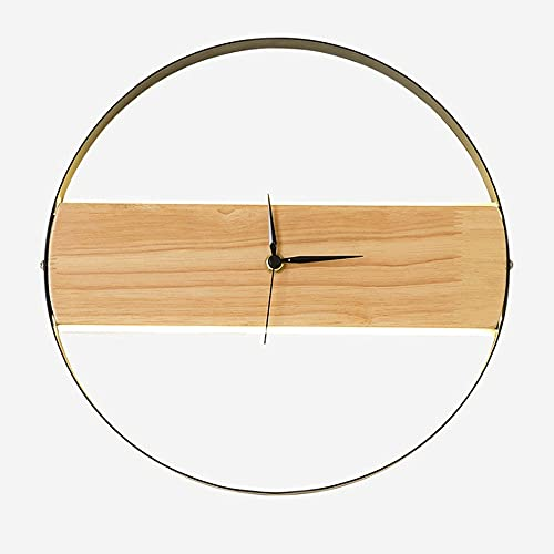 Luz De Pared Creativa Moderna Personalidad Reloj Redondo Lámpara De Pared LED Decoración De Madera Maciza Apliques De Pared Para Dormitorio Mesita De Noche Comedor Bares Café [Clase Energética A ++]