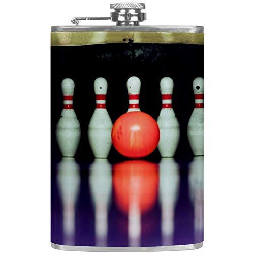 Bennigiry Herren Flachmann Bowling Ball Crashing Auslaufsicher Edelstahl Pocket Flachmann für Likör