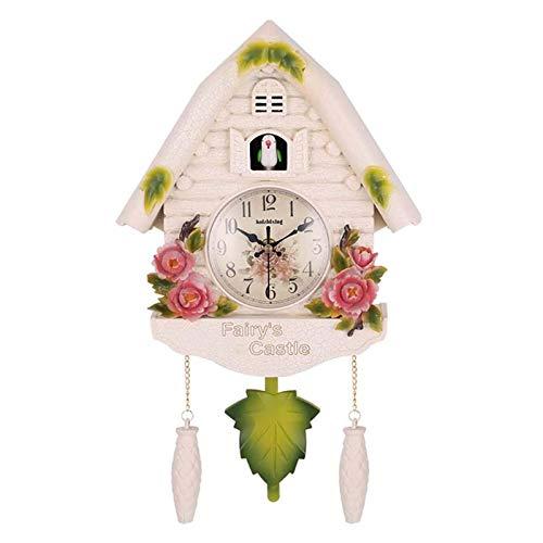 Lindo pájaro Reloj de pared Reloj despertador de cuco Funciona con pilas Reloj de cuco que no hace tictac para la sala de estar Decoración del dormitorio de los niños Relojes de alarma para el hogar