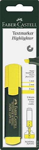 Faber-Castell 145099 - Blíster con 1 marcador textliner, color amarillo