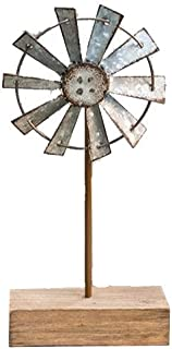 CWI Gifts Simple Windmill Table Sitter, 10 Inches, Multicolored