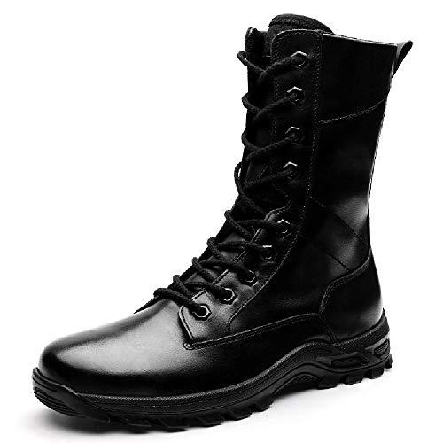 NANFAN Botas Militares Combate Hombres Botas tácticas Impermeables Zapatos Casuales Entrenamiento en la Selva del Desierto Botas Trabajo Patrulla policial,Black-45