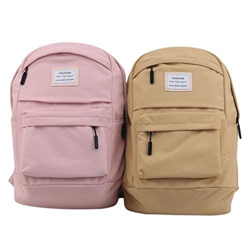 Toporchid Nylon Schulrucksack Set Bleistifttasche Rucksack Handtasche Umhängetasche Schul Aufbewahrungstasche Set (Pink)