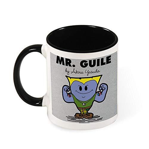 Mr Guile Street Fighter Mr Men Ceramic Coffee Mug Tea Mug,Gift for Women, Girls, Wife, Mom, Grandma,11 oz