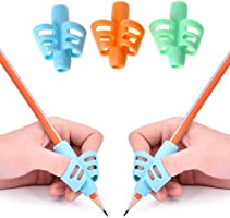 SYGA Two-Finger Silicone Pencil Grips for Kids Handwriting Pencil Holder for Children Preschoolers Writing Training Grip...