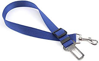 Center Link Media Adjustable Pet Dog Cat Car Seat Belt Safety Leads Vehicle Seatbelt Harness Blue