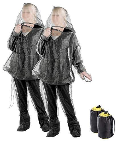 infactory Zeckenschutz: 2er-Set Anti-Zecken-Schutzanzug, Ganzkörperschutz gegen Insekten (Ganzkörper Moskitonetz)