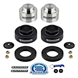 Supreme Suspensions - Full Lift Kit for Chevy Trailblazer Envoy 3' Front High Crystalline Delrin Strut Spacers + 3' Rear Aircraft Billet Spring Spacers (Silver)
