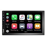 radio coche 2 din, 7 '' pantalla táctil HD reproductor multimedia para automóvil, compatible con Bluetooth / Radio FM / TF / USB / Mirror Link / cámara de visión trasera.
