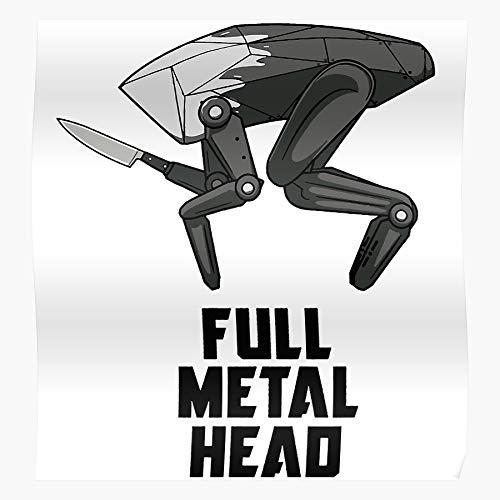 Big Dog Metalhead Movie Black Boston Mirror Robot Killer Dynamics Regalo para la decoración del hogar Wall Art Print Poster 11.7 x 16.5 inch