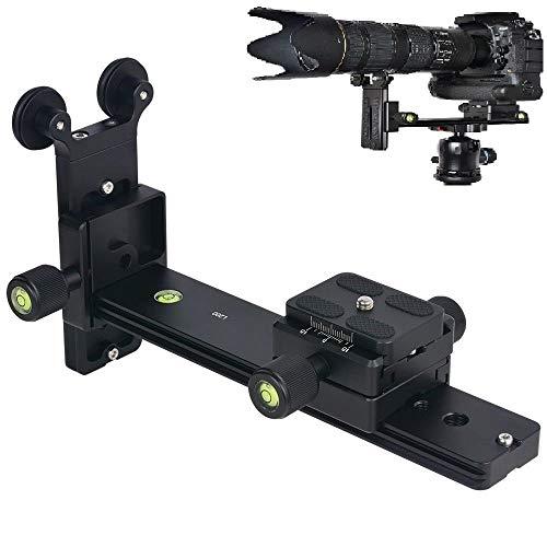 """Hersmay L200 Teleobjektiv Objektiv Schienen für 1/4\"""" Kamera Schraube Telezoom Objektiv Halterung Kompatiblen mit massivem Aluminium mit Arca Swiss Stand"""