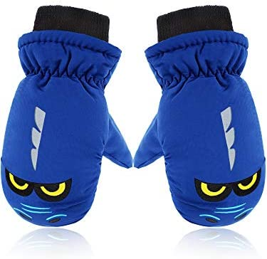 Snow Mittens Winter Ski Mittens Unisex Gloves Kids Waterproof Warm Cotton lined Gloves Royal product image