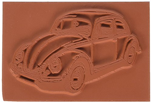 Tief Rot Briefmarken, 2,25x 3,5selbst Stempel VW Bug, deep rot