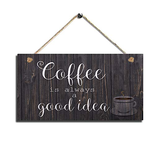 Wood Coffee Sign Coffee Kitchen Wall Hanging Sign Wall Art
