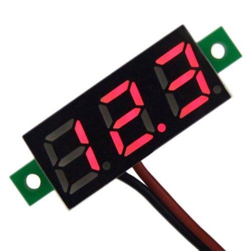 Droking Mini Digital Voltage Meter, DC 2,5~30 V Volt Tester 0,28 '' Led-anzeige Voltmeter Panel 2 Drähte Auto Motorrad Batterie Monitor Manometer