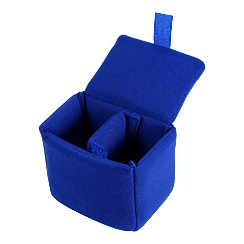Bolsa de la cámara DLSR Acolchada a Prueba de Golpes Cámara Plegable Insertar Bolso de protección Bolsa de la cámara Accesorio Bolsa reemplazo para fotografiar Negro, Rojo, Naranja, Azul(Azul )