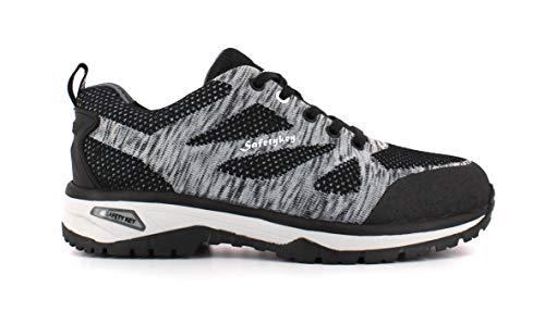 Foxter - Zapatos Deportivos de Seguridad | Zapatillas de Trabajo para Hombre | Ligeros y Transpirables | Safetykey : Comodos | S1P SRC HRO