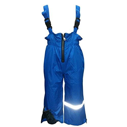 Outburst - Jungen Regenhose mit Latz und Fleece Wasserundurchlässig Matschhose, blau -Größe 86