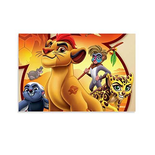 DRAGON VINES El Rey León Simba Mufasa Rey del Bosque Pintura para la pared, decoración de oficina, 40 x 60 cm