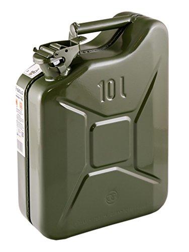 IWH, 073856 Tanica per Benzina in lamiera d'Acciaio, 10 l, Verde