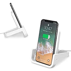 【UP TO 10W FAST CHARGING】10W wireless charging stand for Samsung Galaxy S10 / S10+ / S10E / S9+ / S8 / S8+ / S7 / S7 Edge/S6 Edge+TE 8TE5, 2X faster than standard wireless chargers. 7.5W wireless charging for iPhone XS MAX / XR / XS/ X / 8 / 8 Plus i...