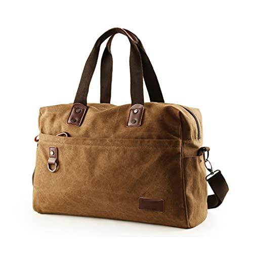 FEANG Bolsa de Viaje Bolsa de Lona de Viaje de Lona para Viajar Bolsa de Weekender Japanese Retro Overnight Bag para una escapada de Fin de Semana de Viaje Corto Bolsa de Gimnasio (Color : Brown)