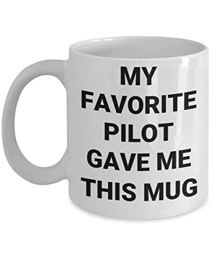 Taza divertida del capitán del piloto Mi aviador favorito me dio esta taza Yoda RV Snoopy Idea de regalo para mamá Papá Papá Padre avión Avión Aviación Amigo Microondas Apto para lavavajillas Acogedor