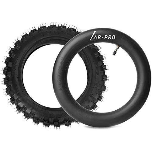 2.5-10' Off-Road Tire and Inner Tube Set - Dirt Bike Tire with 10-Inch Rim and 2.5/2.75-10 Dirt Bike Inner Tube Replacement Fits Honda CRF50/XR50, Suzuki DRZ70/JR50, and Yamaha PW50