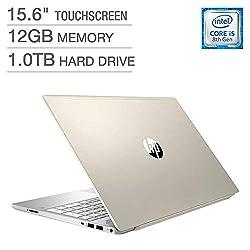 "Image of 2018 Newest HP Pavilion Business Flagship Laptop PC 15.6"" HD Touchscreen Display 8th Gen Intel i5-8250U Quad-Core Processor 12GB DDR4 RAM 1TB HDD Backlit-Keyboard Bluetooth B&O Audio Windows 10-Gold: Bestviewsreviews"