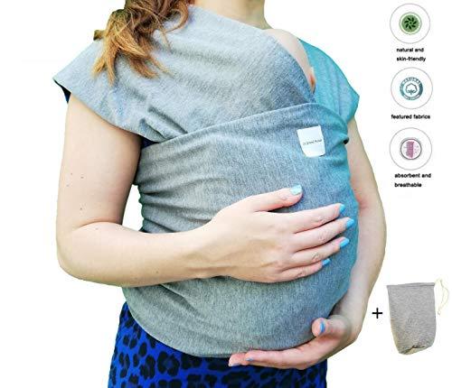 Ideal para lactancia materna 0.58Mx5.3M Regalo para la nueva mam/á M/étodo de espalda multifuncional AniKigu Fular Portabeb/és Algod/ón suave y Comfort Spandex para beb/és reci/én dentro de los 16 KG