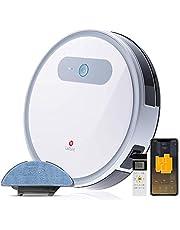 LEFANT Robot Aspirador y Fregasuelos, Succión Fuerte 2000Pa con Sensores Anticaída, Programable App, Autocarga, Aspira, Barre, Friega y Pasa la Mopa, Alexa y Google Home M501A