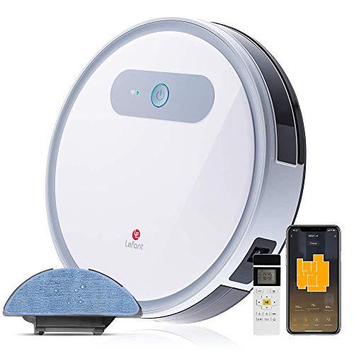 LEFANT Robot Aspirapolvere e lavapavimenti, M501-A con WiFi, Professionale 4 in 1, Scopa, Aspira, Passa Il Panno E Lava, Adatto a Pavimenti e Tappeti, Ottimo per i Peli degli Animali Domestici M501-A